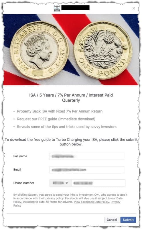 Facebook Ads Case Study | UK Financial Product (ISA)