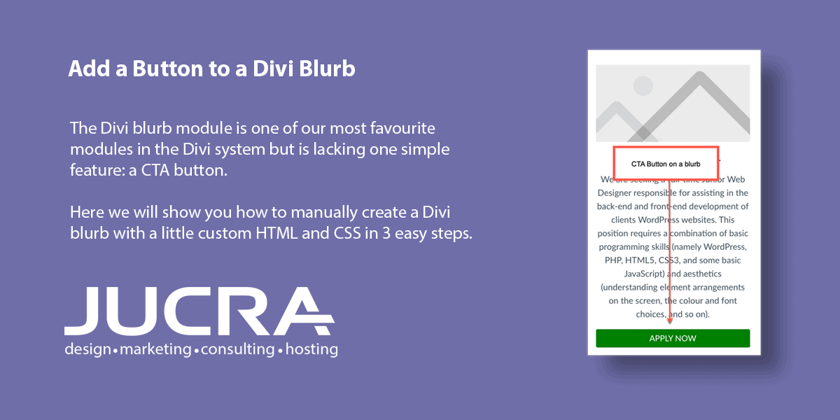 Add a CTA Button to a Divi Blurb