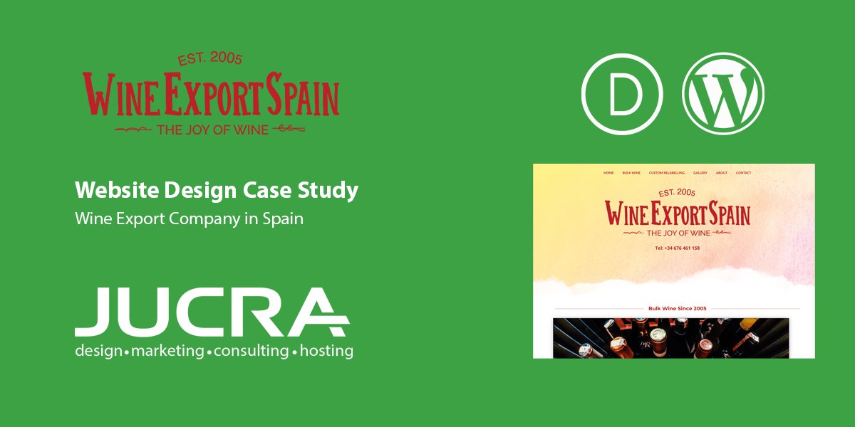 Case Study for Website Design – Wine Exporter