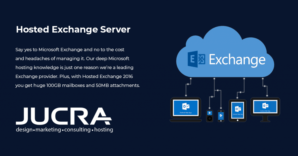 Using free email services? Try our Exchange Server service