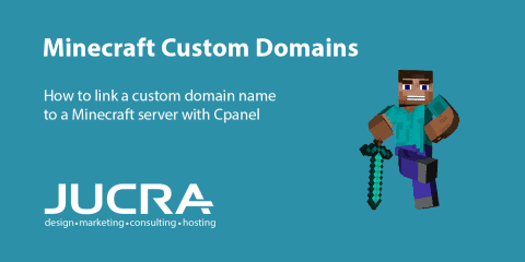 How to link a custom Minecraft domain name to a private Minecraft server with Cpanel